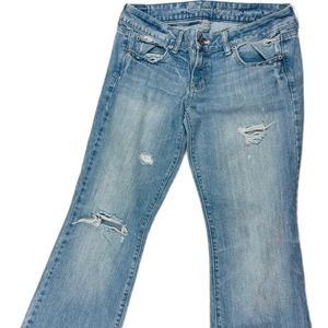 American Eagle Distressed Favorite Boyfriend Jeans